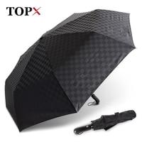 120cm Big Umbrella Rain Women Automatic 3Folding 10k Aluminum Alloy Umbrella Windproof Business Men Outdoor Travel Umbrella