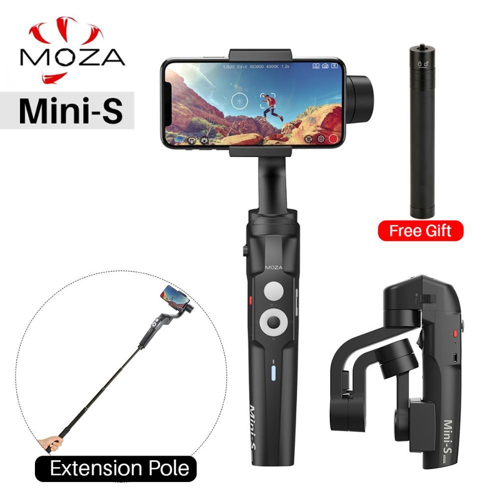 Stabilisateur de cardan à 3 axes pliable Moza Mini S pour iPhone Xs Max X Samsung S10 S9