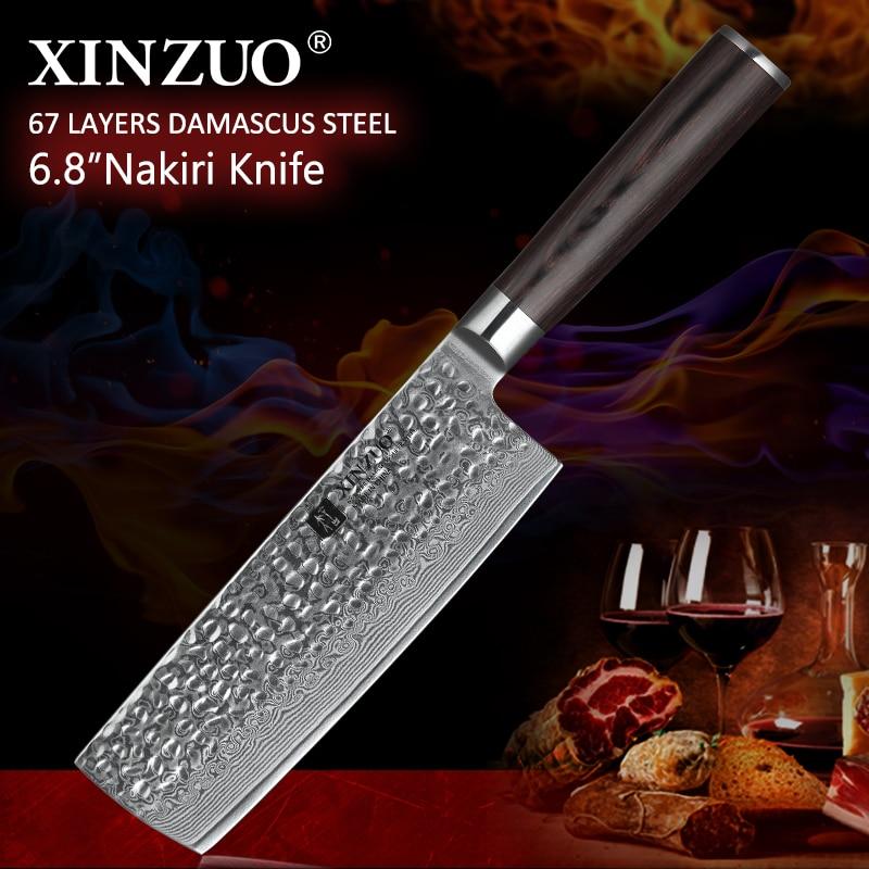 XINZUO 7 inch chef knife Japanese 73 layers Damascus kitchen sharp japanese women wood handle free shipping