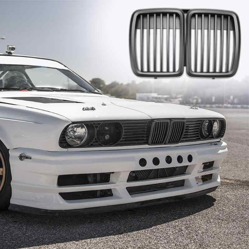 1pc Front Kidney Matte Black Grill Grilles Styling Accessory for BMW E30 318 320 325 1982-1994 Car Front Bumper Grille New