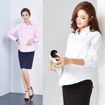 53612a90f Las mujeres embarazadas camisas de manga larga formal profesional ropa de  trabajo blanco primavera otoño ropa