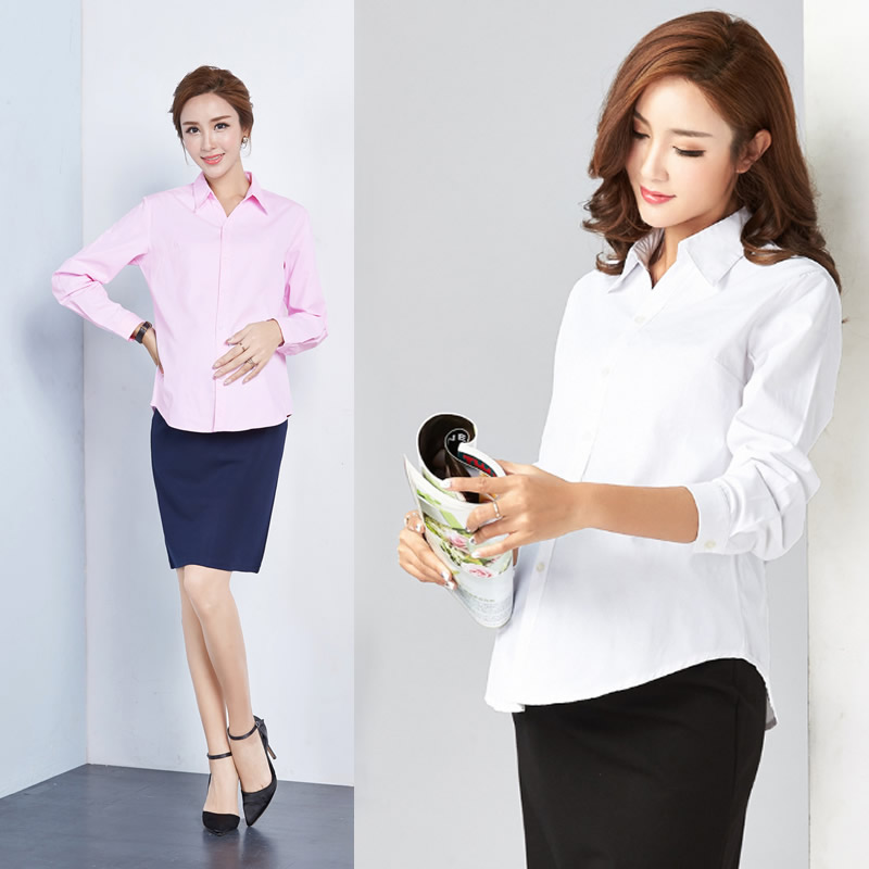 Pregnant Women's Shirts Long sleeve formal Professional Work Clothes white spring autumn maternity clothes 4XL for pregnancy