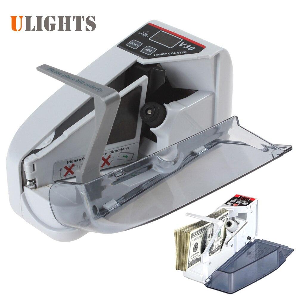 YBC-V30 Mini Portable Projet de Loi Contre La Machine Multi Papier Monnaie Handy Cash Money Contre Comptage Machine