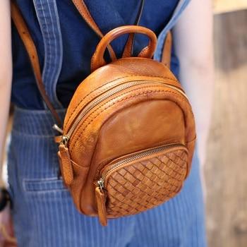 AETOO ретро искусство ручной работы кожа маленькая 2017 Новая Кожаная Мини дикая плетеная ракушка сумка на плечо