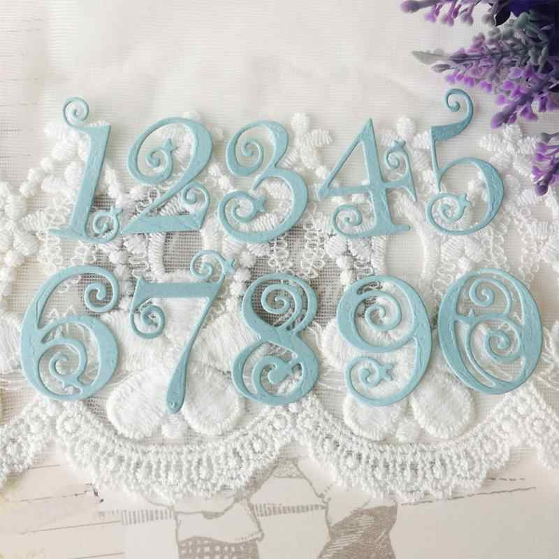 10pcs Circle Lace Numbers Metal Dies Scrapbooking Metal Cutting Dies 2018 Craft Stamps die Cut Embossing Card Make Stencil Frame