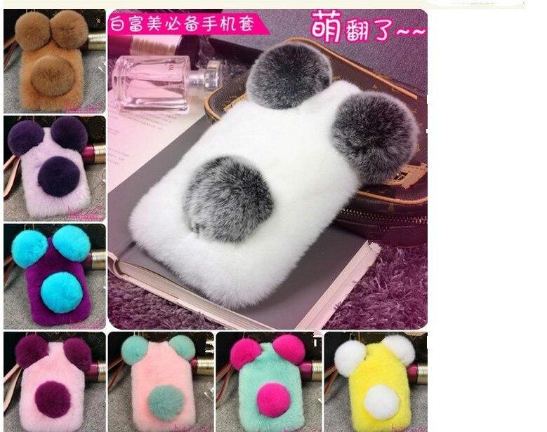 Цена за Cute PANDA Настоящее Рекс кролика телефон случае Для iPhone7 7 плюс 6 s 6 Плюс 5 5S SE пушистый плюша Крышка samsung Примечание 5 4 3 S7 s6 край 4S