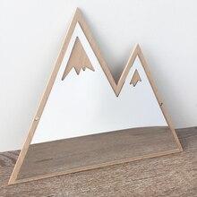 Nordic 3D зеркало настенное Стикеры Mountain сделай сам, виниловый Арт Наклейка Сменные водонепроницаемые обои для малыша Спальня домашний декор гостиной