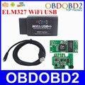 A + + + Calidad ELM327 USB WIFI Para iOS/Android Torque y Plataformas PC OBDII Interface ELM WI-FI Suppots Múltiples Protocolos de OBDII