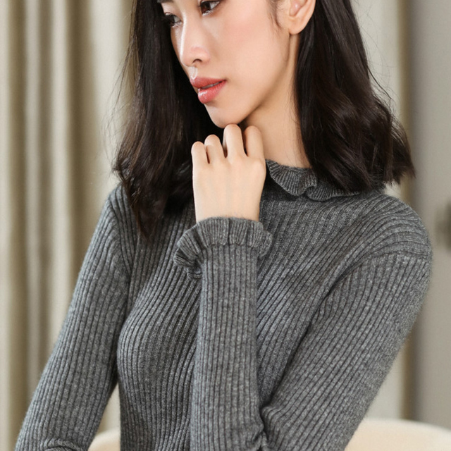 0753e320bdb New Arrival Women Pullovers Cashmere Knitting Sweaters Hot Sale Lotus  collar Jumpers Hot Sale Winter Woman