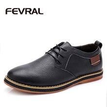 FEVRAL Marque Nouvelle Mode Bottes D'été Cool Hiver Chaud Hommes Chaussures véritable Chaussures En Cuir Hommes Appartements Chaussures Bas Pour Hommes Oxford Chaussures