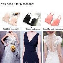 Sexy Satin Bra Women Bra Deep U bras u Low cut Push Up sutian Seamless brassiere Underwear boost Wedding Dress 2017 Fashion