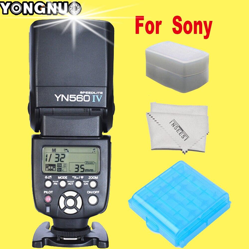 ФОТО For Sony A99 A58 A6000 A3000 A7s A7 NEX-6 A6300 A7r A7r II DSC-HX50 YONGNUO YN560IV YN560-IV YN560 IV Speedlite Flash Speedlight