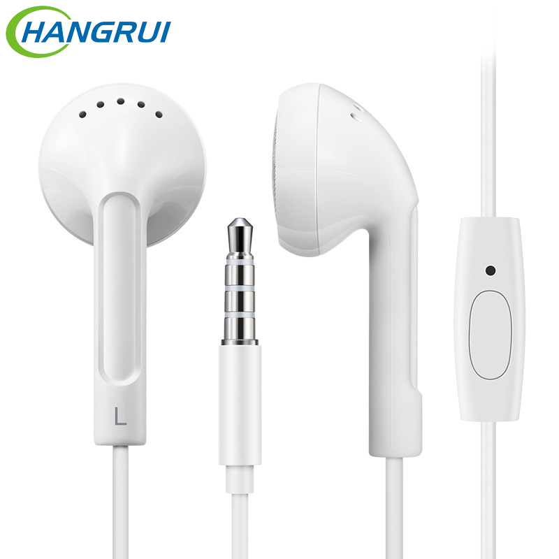 HANGRUI MD 11 mp3 Stereo Earphone Flat Head Plug In Ear HiFi Earphones with mic sport Bass Headset ear phone for mobile phone super bass in ear sport earphone with microphone hifi stereo noise isolating music earphones headset for mobile phone iphone mp3