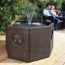 Patio Pond Lily Tub Octagon/Half Moon Rattan Wickerwork Panel Window Garden  Water Feature Koi
