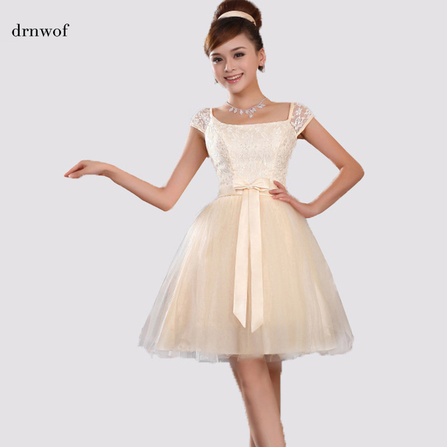 0aa95a31aca Cheap 2017 new arrival korean style cute ball gown with bow and cap sleeve  elegant women