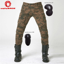 Motocross Protective Riding Camo Jeans Camouflage Leisure Motorcycle Pants uglyBROS UB07 font b Oxford b font