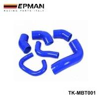 Racing Silikon turbo inter schlauch kit Für MIT EVO 7 9 2 0 L Turbo 4G63 (6 stücke) EP MBT001| |   -