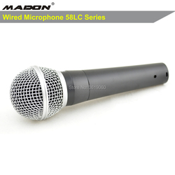 Free shipping,  sm58lc wired dynamic cardioid professional microphone ,58lc sm wired microphone