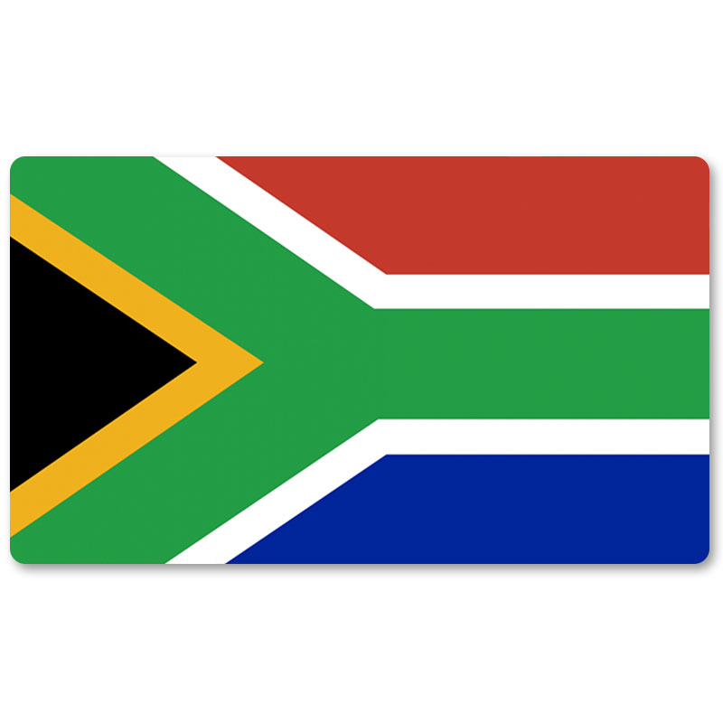 Country Flag Playmats - South Africa - Board Game Mat Table Mat Mouse Mat Mouse Pad 60 x 35CM