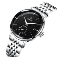 센서 자동 시계 남자 럭셔리 브랜드 기계식 시계 방수 스테인레스 스텔라 밴드 블랙 핑크 3 바