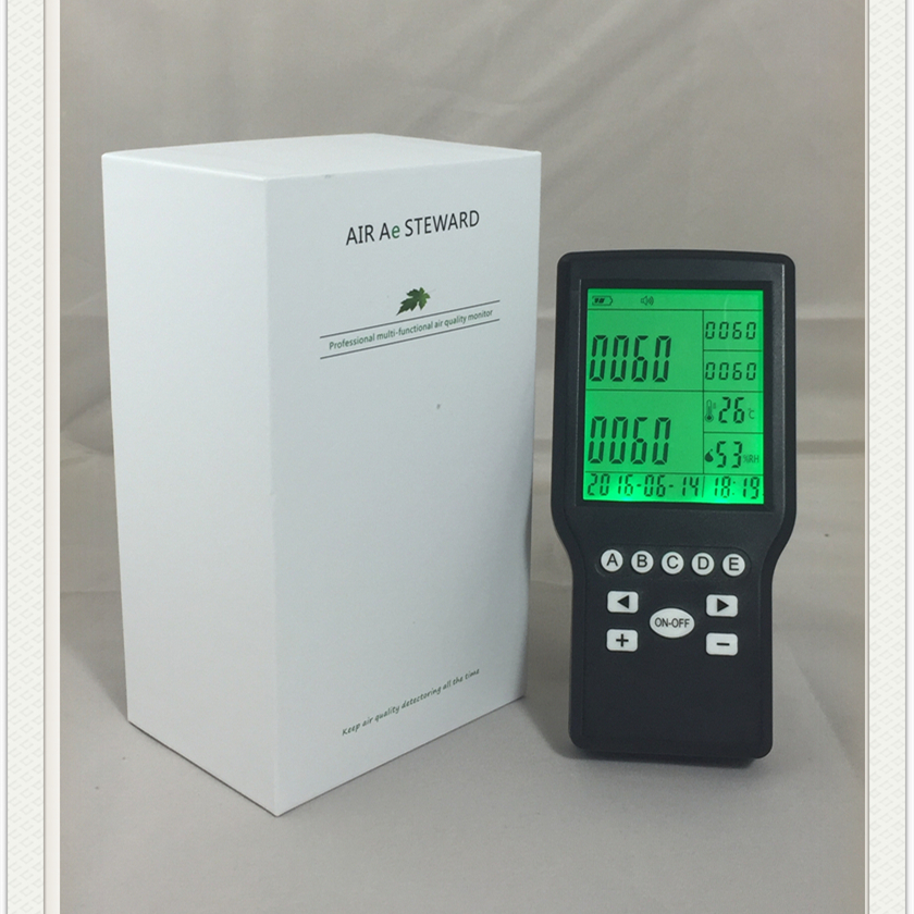 Free shipping HCHO VOC Formaldehyde Monitor Gas Detector indoor Air quality control factory supply air quality monitor for indoor voc and formaldehyde monitor
