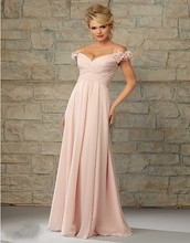 Chiffon Bridesmaid Dresses Long 2016 Sexy V Neck Backless A Line Custom Made Flower Wedding Party Gown robe demoiselle d'honneur