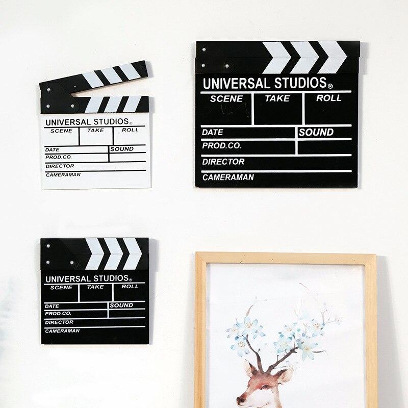 Diretor cena de vídeo tv filme clapper board casa decorações diy filme clássico slate corte ação prop festa photobooth adereços
