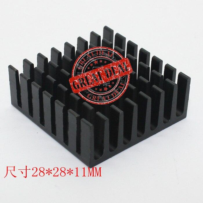 Free Ship With Tracking 100pc High Quality Aluminum Heatsink 28*28*11MM Chipset Heatsink Radiator Block