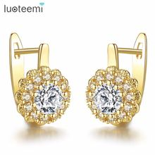 Luoteemi модные блестящие великолепные серьги кольца в форме