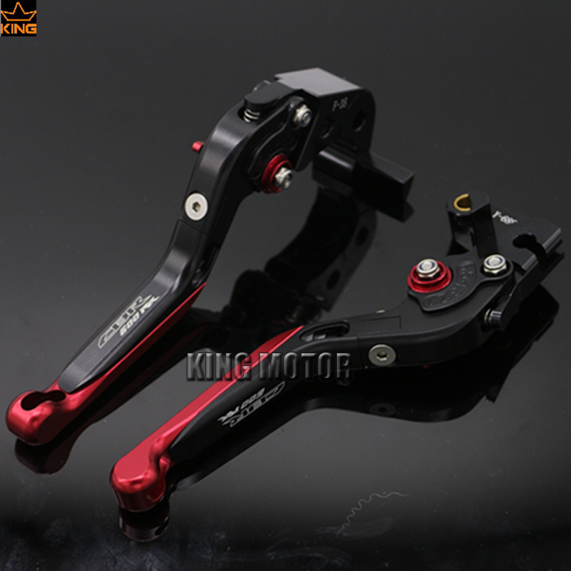 все цены на  For HONDA CBR 600RR 2007-2016 Motorcycle Adjustable Folding Extendable Brake Clutch Levers Black+Red LOGO CBR600RR  онлайн