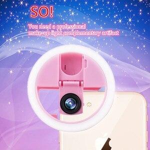 Image 2 - USB LED الجمال ملء ضوء الإضاءة التكميلية ليلة الظلام Selfie تعزيز للهاتف تهمة Selfie مصباح مصمم على شكل حلقة ringlight