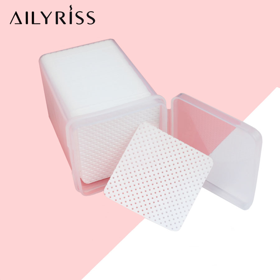 200/540pcs Lint-Free Paper Cotton Wipes Eyelash Glue Remover Wipe The Mouth Of The Glue Bottle Prevent Clogging Glue Cleaner Pad