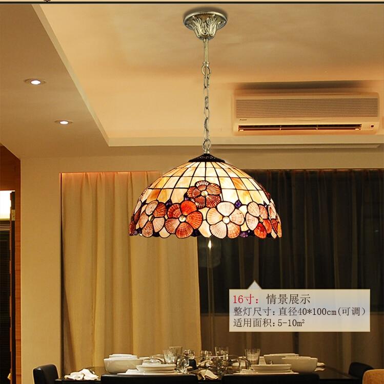 Tiffany Pendant Light Colorful glass coverVintage Novelty Creative Tiffany Pendant Light Hanging Lamp Decorative Lighting