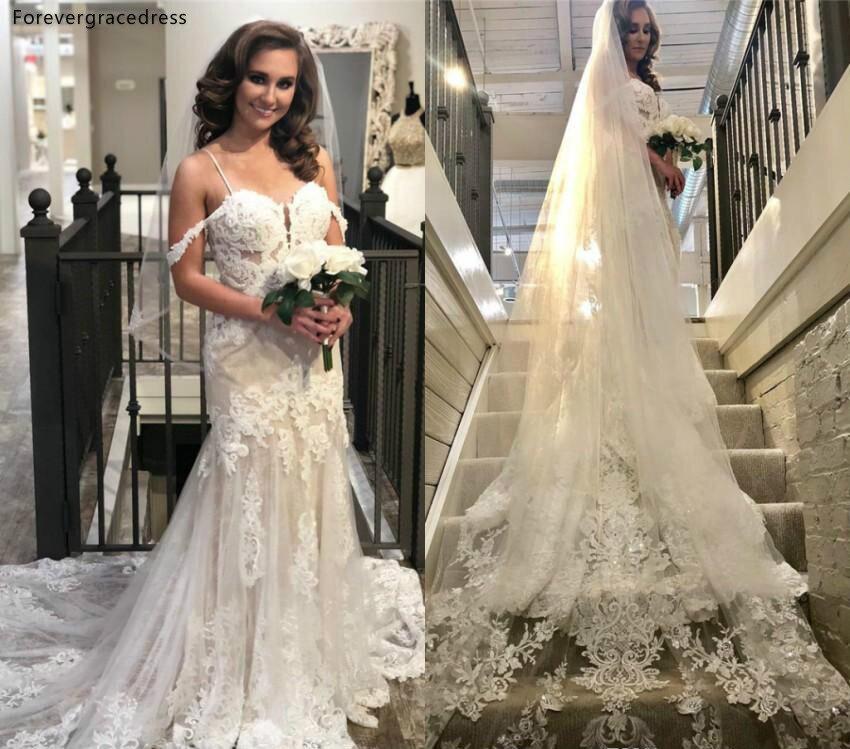 Cheap Spaghetti Straps Boho Wedding Dress Dubai A Line Appliques Country Garden Church Formal Bride Bridal Gown Plus Size
