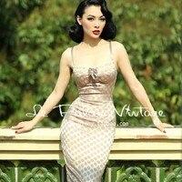 Elegant Sexy Vintage Hepburn Polka Dot Corset Style Nude Color One Piece Dress Shoulder StrapBow Slim Tube Top Dress Full Dress