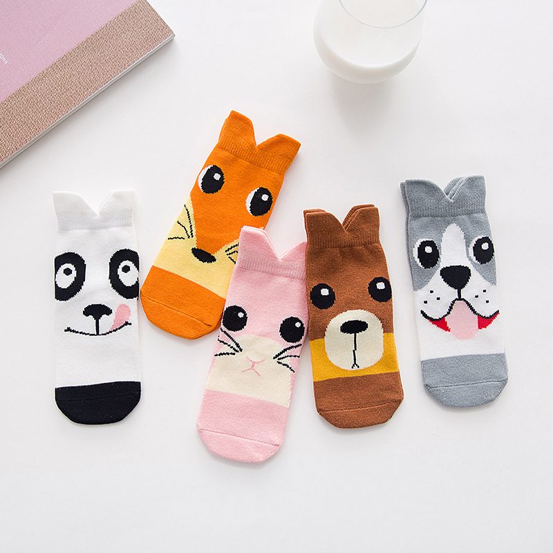 0-12Y Autumn Animal Socks Cute Ears Dogs Kids Knee Socks 3D Cartoon Boys Girls Funny Baby Socks Cotton Leg Warmer Brand