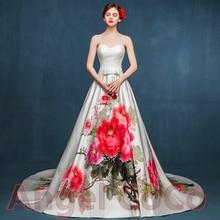 Luxury Evening Dress hand-painted Prom Dresses Elegant Robe De Soiree Long Oriental Silk great gatsby dress Party gown kaftan