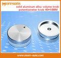 Rápido Envío Gratis 5 unids/lote perilla sólida aleación de aluminio botón del potenciómetro perilla de volumen 40*18 MM tipo de tornillo de fijación perilla