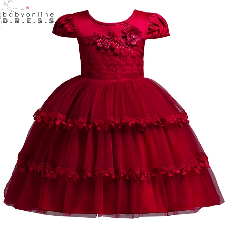 Cute O Neck Cap Sleeve Tulle Lace   Flower     Girl     Dresses   Embroidery Appliques kids   Dress   Wedding First Communion   Dresses