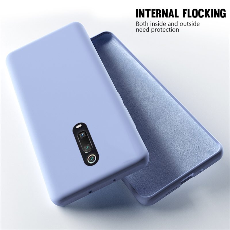 Luxury Liquid Silicone Case For Xiaomi Redmi K20 K20 Pro K20Pro Slim Phone Cover On Redmi K20 Case Redmi K20 Pro Cases 6 39inch in Fitted Cases from Cellphones Telecommunications