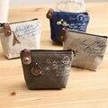 Бесплатная доставка женские девушки ретро холст портмоне с различными психического украшения смена карты сумка мода кошельки