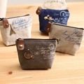 Free Shipping Womens Girls Retro Canvas Coin Purse With Different Mental Decorations Change Cards Bag Fashion Wallets
