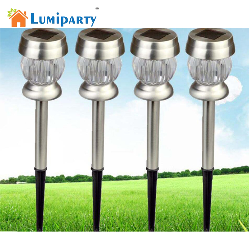 Lumiparty Lawn Lights LED Solar Lamps White Outdoor Lighting Energy Saving Path Landscape Light Garden Patio Decoraton creative set of 5 solar led glass bottle lights lamp outdoor garden patio lighting