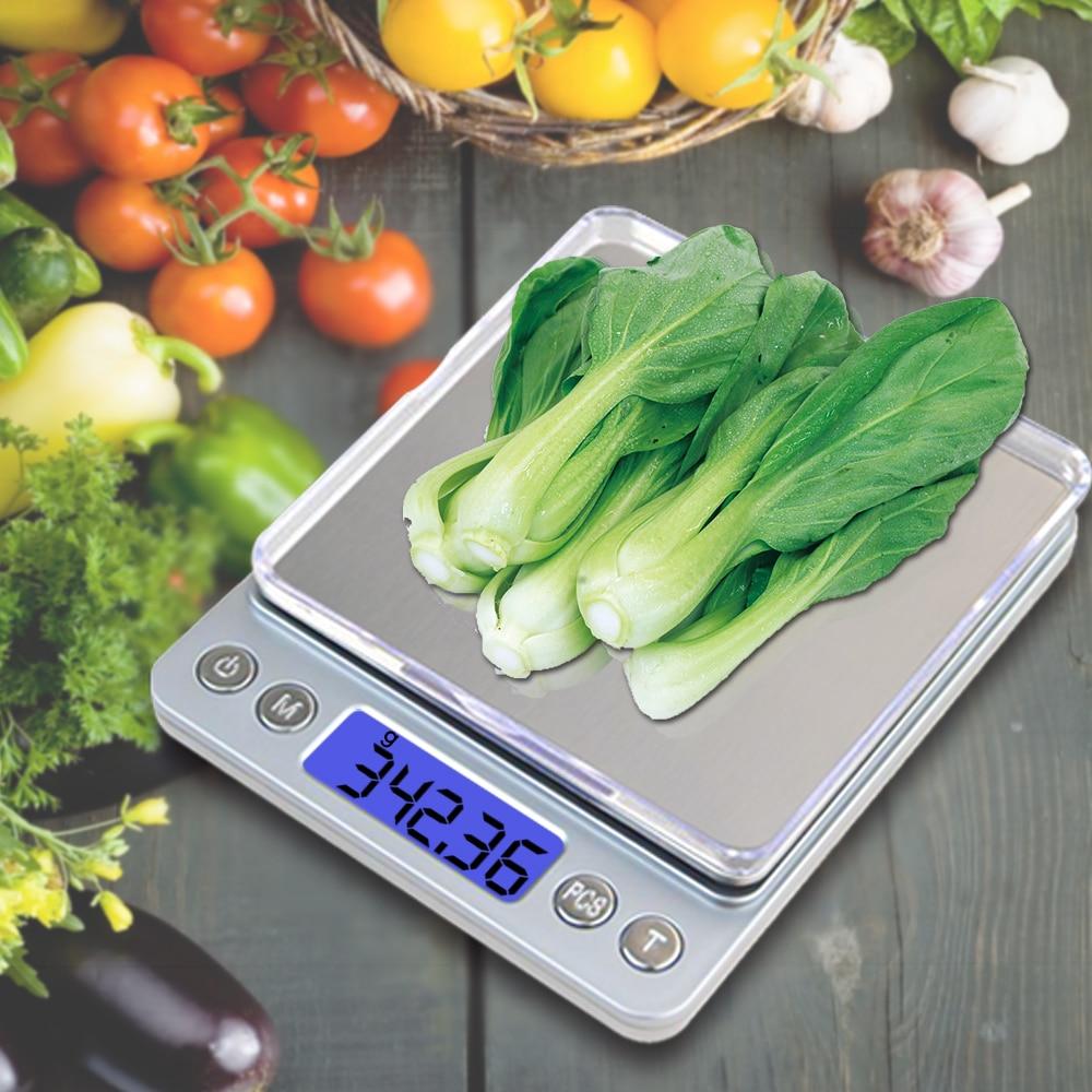 Nešiojamos virtuvės svarstyklės Tiksli elektroninė skaitmeninė - Matavimo prietaisai - Nuotrauka 5