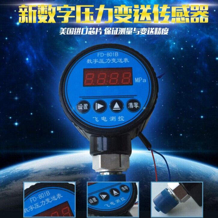 0-25MPA   Digital pressure transmitter 4-20mA output digital display Hydraulic pressure gauge 24V  цены