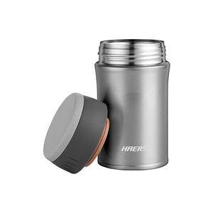 Image 2 - Haers 500 мл Термокружка для еды с вакуумной изоляцией термос для супа 18/8 из нержавеющей стали Ланч бокс со складной ложкой