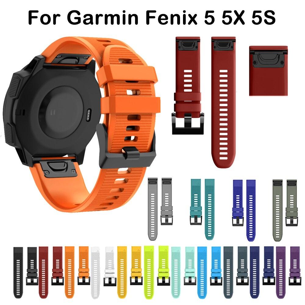 26 22 20MM Watchband Strap For Garmin Fenix 6X Pro 5 5S Plus 3 3HR D2 S60 Watch Quick Release Silicone Easyfit Wrist Band Strap