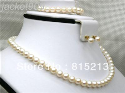 11-12mm 16//17//18//19//20inch AAA Akoya White Pearls Strand Necklace 925 Silver