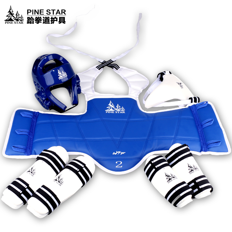 Good quality WTF approved Taekwondo protectors suit chest shin arm groin guard kids karate headgear MMA kick body hugo Helmets free shipping wesing women karate chest guard female boxing chest protector approved wkf