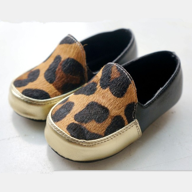 Leopard Horse Hair Genuine Leather Baby Moccasins For Boys Shoes Soft Soled Moccs Toddler Infant Handmade Kids First Walkers